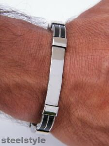 STAINLESS-STEEL-316L-BRACELET-SILVER-GLOSS-MEN-039-S-JEWELLERY-BRACELET-G2