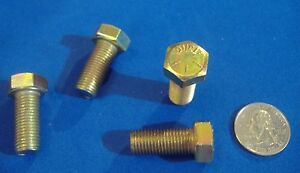 "LOT OF 4 GRADE 8 HEX HEAD CAP SCREW 7//16-20 X 1 1//2/"" YELLOW ZINC HARDENED BOLT"