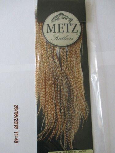metz saddle barred ginger saddle grade 2  flytying hair feathers
