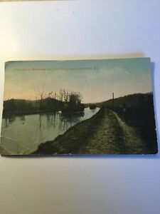 1900's Old Postcard Chesapeake & Ohio Canal Cumberland Maryland Boat Historical