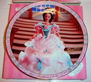 Barbie-as-1850-039-s-Southern-Belle-Collector-Plate-w-Box-174815-1668-out-of-7500