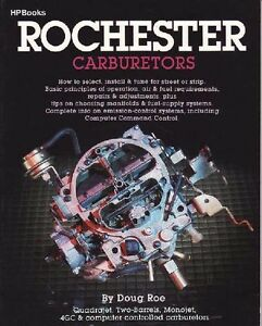 HP Books Rochester Carburetors CARBY MANIFOLDS WORKSHOP SERVICE REPAIR MANUAL
