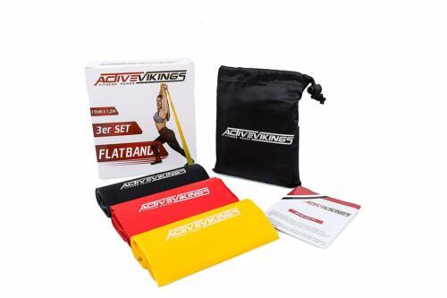 Fitnessbänder Set 3-Stärken 1,2m Länge//Fitnessband Gymnastikband Widerstandsband