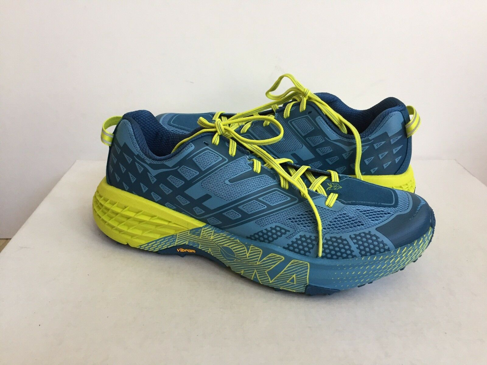 HOKA ONE ONE MEN SPEEDGOAT 2 MIDNIGHT   NIAGARA schuhe US 9   EU 42 2 3   UK 8.5