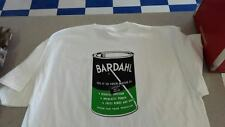 Men's White Retro Vintage Bardahl Oil Can Tee Shirt XL  Rat Rod Hot Rod New !