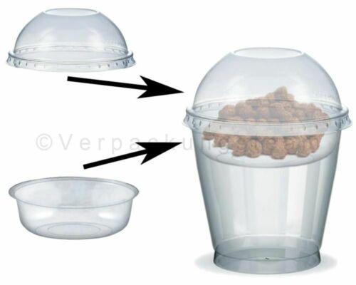 50 Pièce Gobelet Smoothies Tasse Coupe Dessert Couvercle Utilisation 200 à 500
