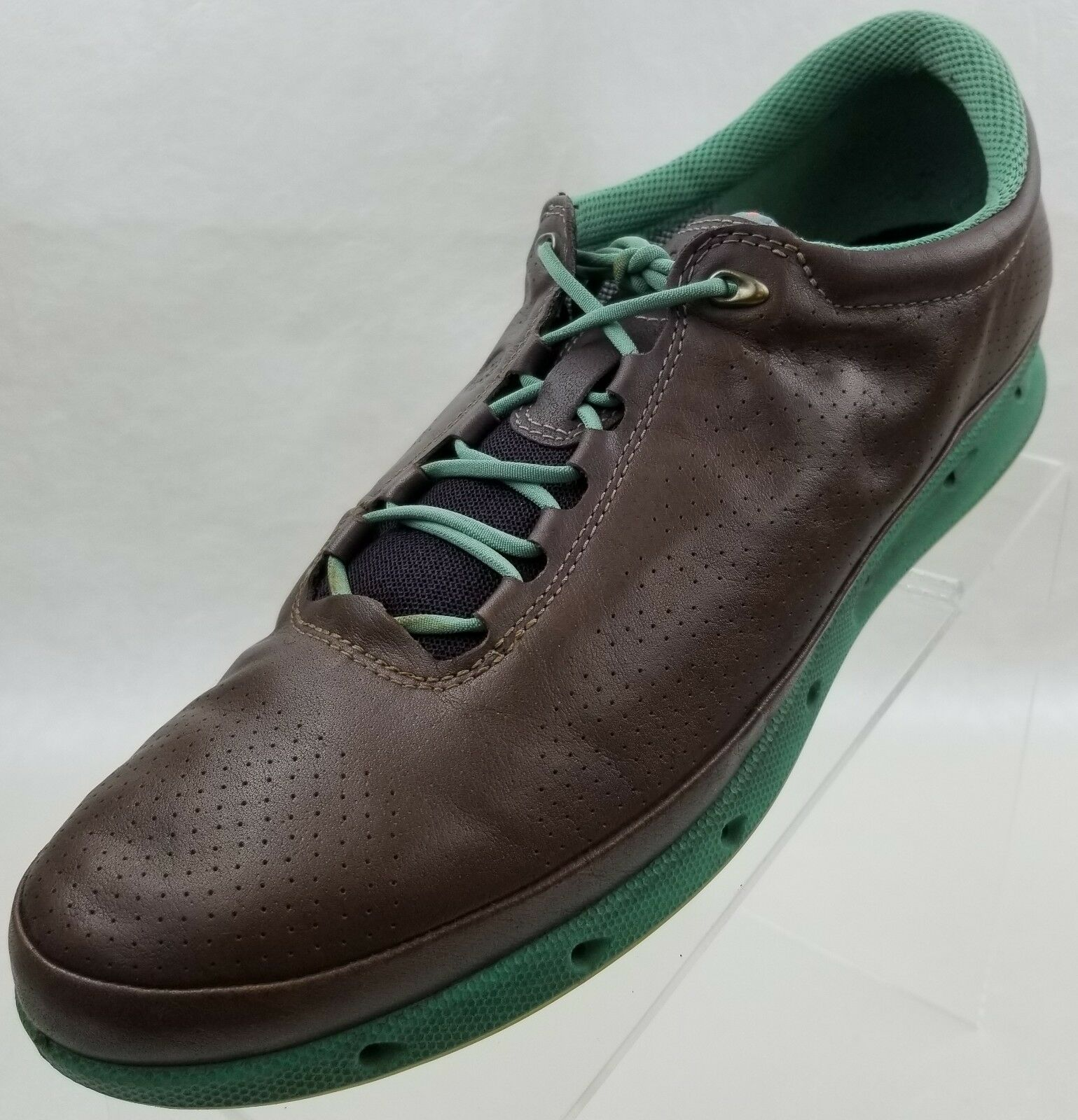 ECCO Sneakers Gore Tex Womens Brown Green Leather shoes Size US 10.5