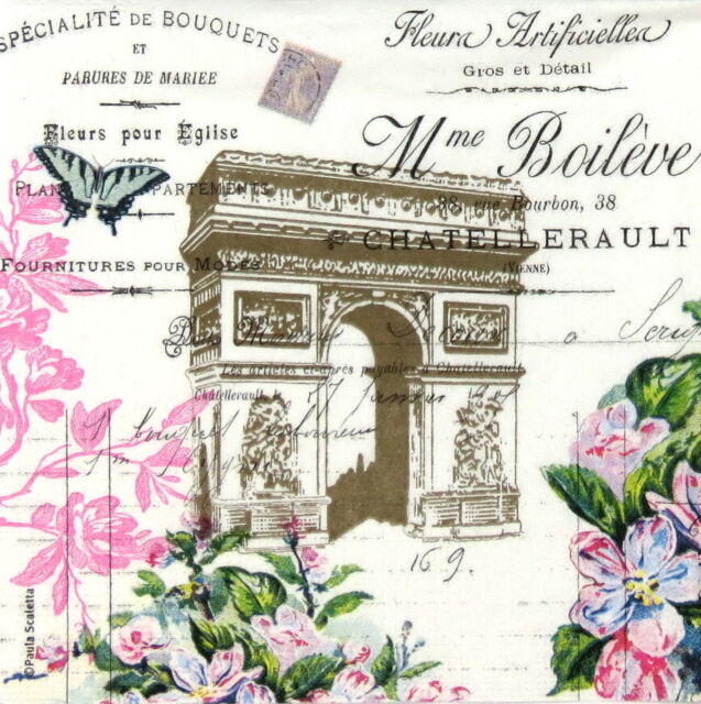 4x Paper Napkins -Arc de Triomphe - for Party, Decoupage Craft