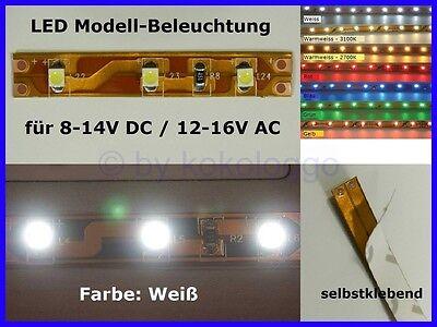 S337 LED Beleuchtung GELB 5 cm selbstklebend 8-16V Kirmes Disco Häuser Zirkus