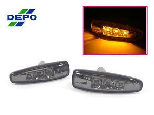 DEPO Clear LED Fender Side Marker Light For 08-15 Mitsubishi Lancer DE ES GTS