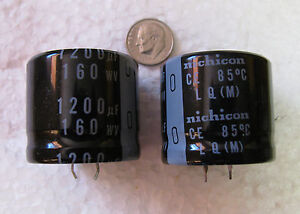 Lot of 3 Nichicon 470uf 200V 85℃ Capacitors