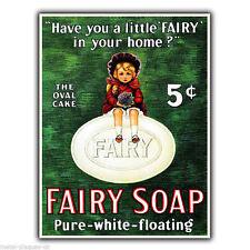 FAIRY SOAP Vintage Retro Advert METAL WALL SIGN PLAQUE Bathroom/Kitchen print