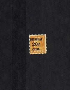 US K10  Shanghai China  Mint H OG overprint shifted