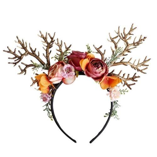 Bois Serre-tête Noël Fleurs Bandeau Fête Robe Fantaisie photographie props