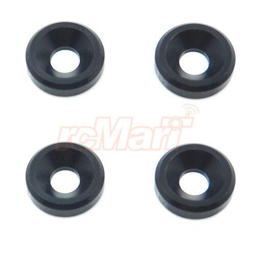 Wrap Up Next FR-D Plastic Countersunk Washers 4pcs Black RC Cars Drift #0036-20