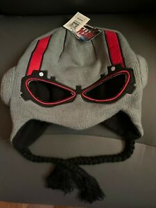 New With Tags NWT Marvel Antman Peruvian Beanie Laplander Hat