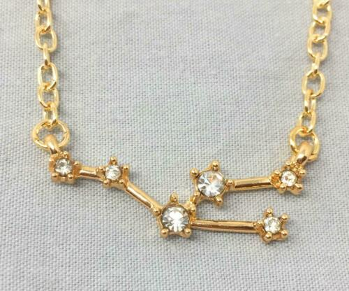 *UK* Gold Plated /'Taurus/' Necklace Constellation Star Sign Astrological A