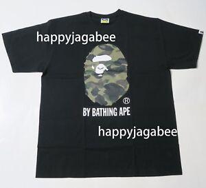 A-BATHING-APE-Men-039-s-1ST-CAMO-BY-BATHING-TEE-Black-x-Green-Size-XXL-Japan-New
