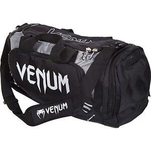 Venum-TRAINER-LITE-Bolsa-de-deporte-Negro-Gris-Petate-tailandes-Kick-Boxing