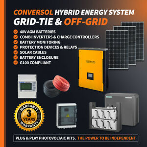 5 kW Onduleur//Charge Hybrid solar inverter sur la grille et OFF GRID 2x MPPT