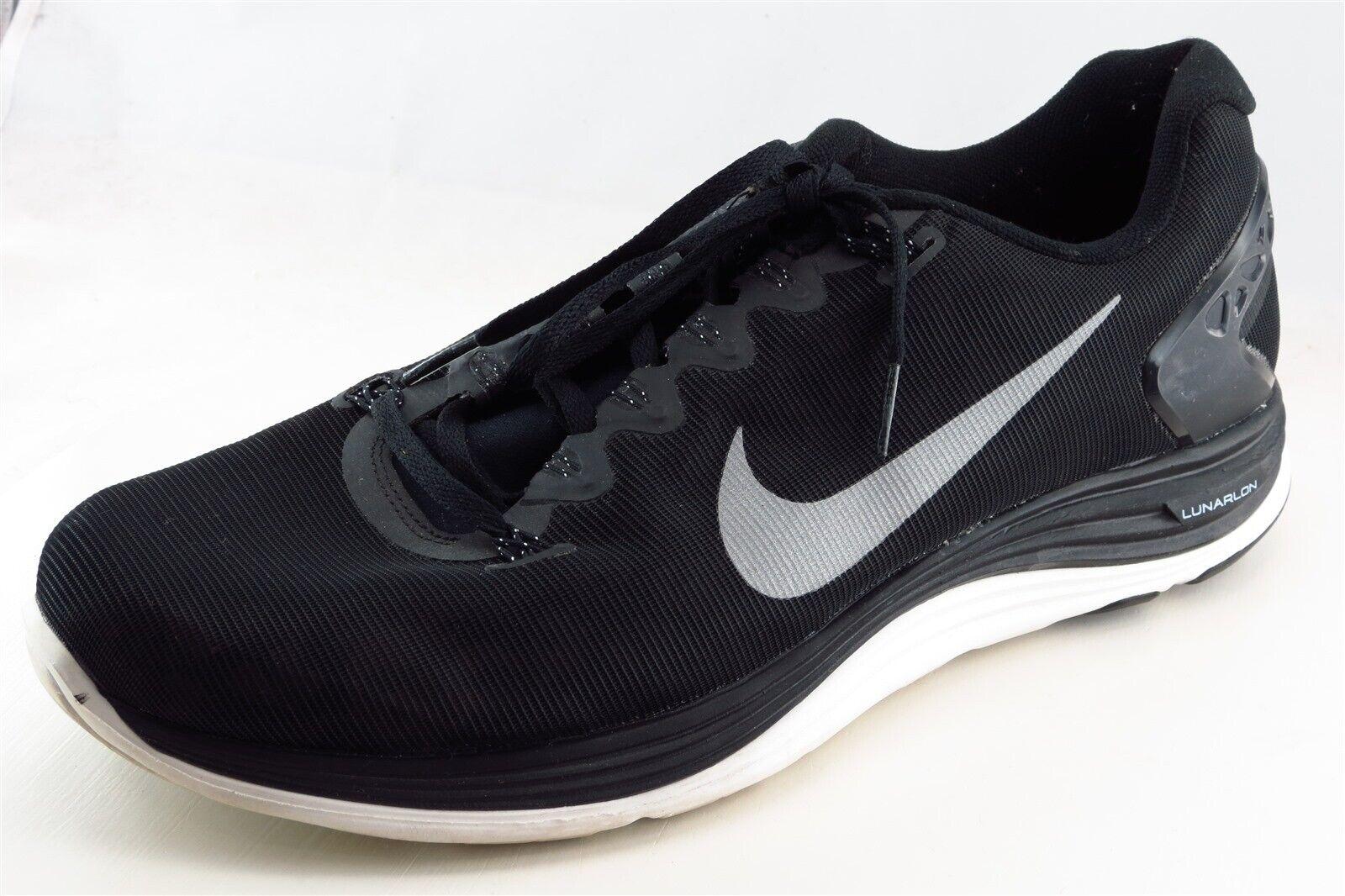 nouveau produit 36bf8 6221f Nike Lunarglide 5 Running Shoes Black Fabric Men 12 Medium (D, M)