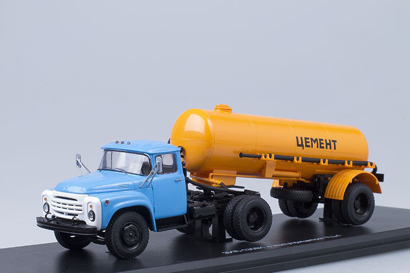 ZIL 130V1 tractor + TC-4 cement tank semitrailer  1:43 Start Scale Models SSM700