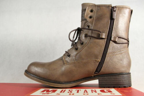 Mustang Ankle Boots Lace up Boots Boots Natural 1139 New