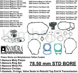 Namura Piston /& Gasket Kit Polaris Magnum 330 Standard Bore 78.5mm NA-50025K Namura