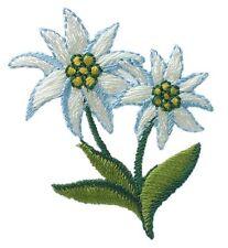 1Aufbügelmotiv♥Patch♥Edelweiss 2 Blüten ♥Aufbügler♥Applikation NEU
