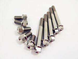 15-80mm Length x1.25 Pitch GR5 M8 Titanium Ti Hex Head Flange Bolt HEX 10mm