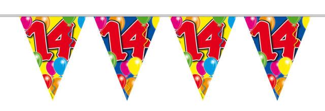 Wimpelkette 10m Zahl 14 Jahre Geburtstag Deko Party Girlande Ebay