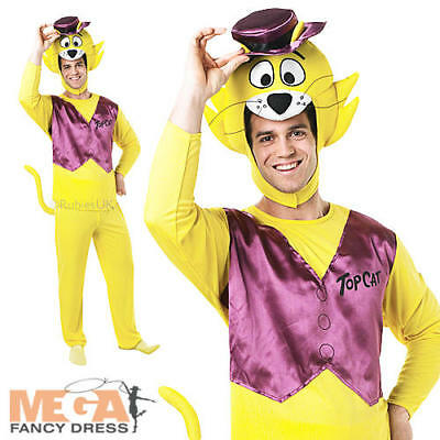 SALE Adult Animal 70s Kids TV Top Cat Mens Fancy Dress Costume Party Outfit
