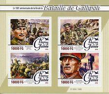 Guinea 2016 MNH Battle of Gallipoli 100th 4v M/S WWI Ataturk World War I Stamps