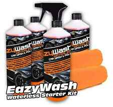 4 500ML WATERLESS KIT CAR WASH CLEANER CARNAUBA WAX SHINE POLISH SHIELD V02