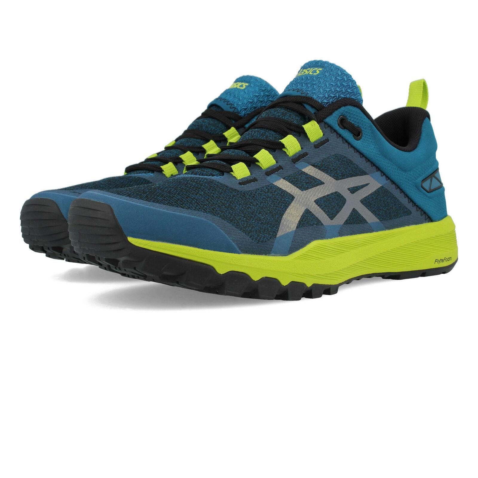 Asics mannens Gecko XT Trail hardlopen schoenen Trainers sportschoenen blauw groen Navy Sports
