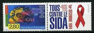 France 1994 Timbre 2916 Vignette Sida/ Aids, Europa Neuf**, Vf Mnh Stamp Distinctive Pour Ses PropriéTéS Traditionnelles