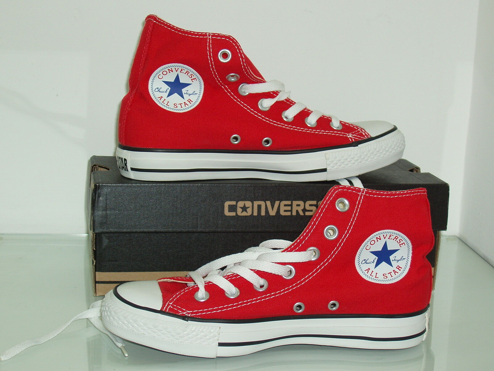 Scarpe converse all - star HI  uomo - all donna  rosso red 8ccb1f