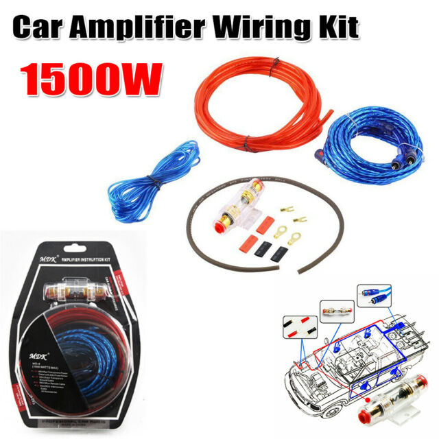 1500w car audio subwoofer sub amplifier amp rca wiring kit cable fuse Winch Wiring Kit