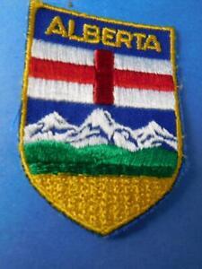 Details about ALBERTA COAT OF ARMS PATCH VINTAGE CREST CANADA PROVINCE  BADGE SOUVENIR