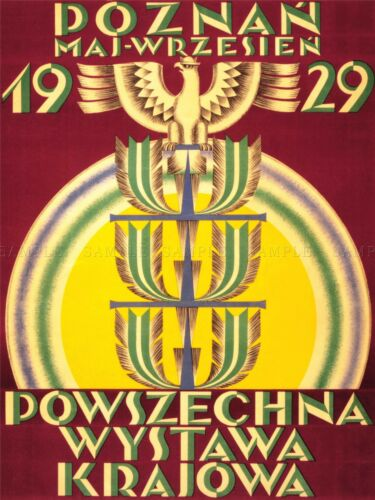 ADVERTISING EXHIBITION NATIONAL EXPO 1929 POLAND EAGLE STAFF POSTER PRINT LV827