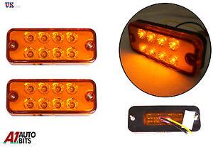 2-x-24-volts-orange-clignotant-clignotant-Lampes-Camion-LGV-Poids-Lourds-BUS-LED