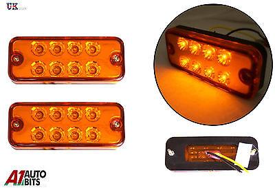 10x Seitenblinker Led-Lampen Lampe Bernstein 24V Anhänger Lkw Van für Iveco Fiat