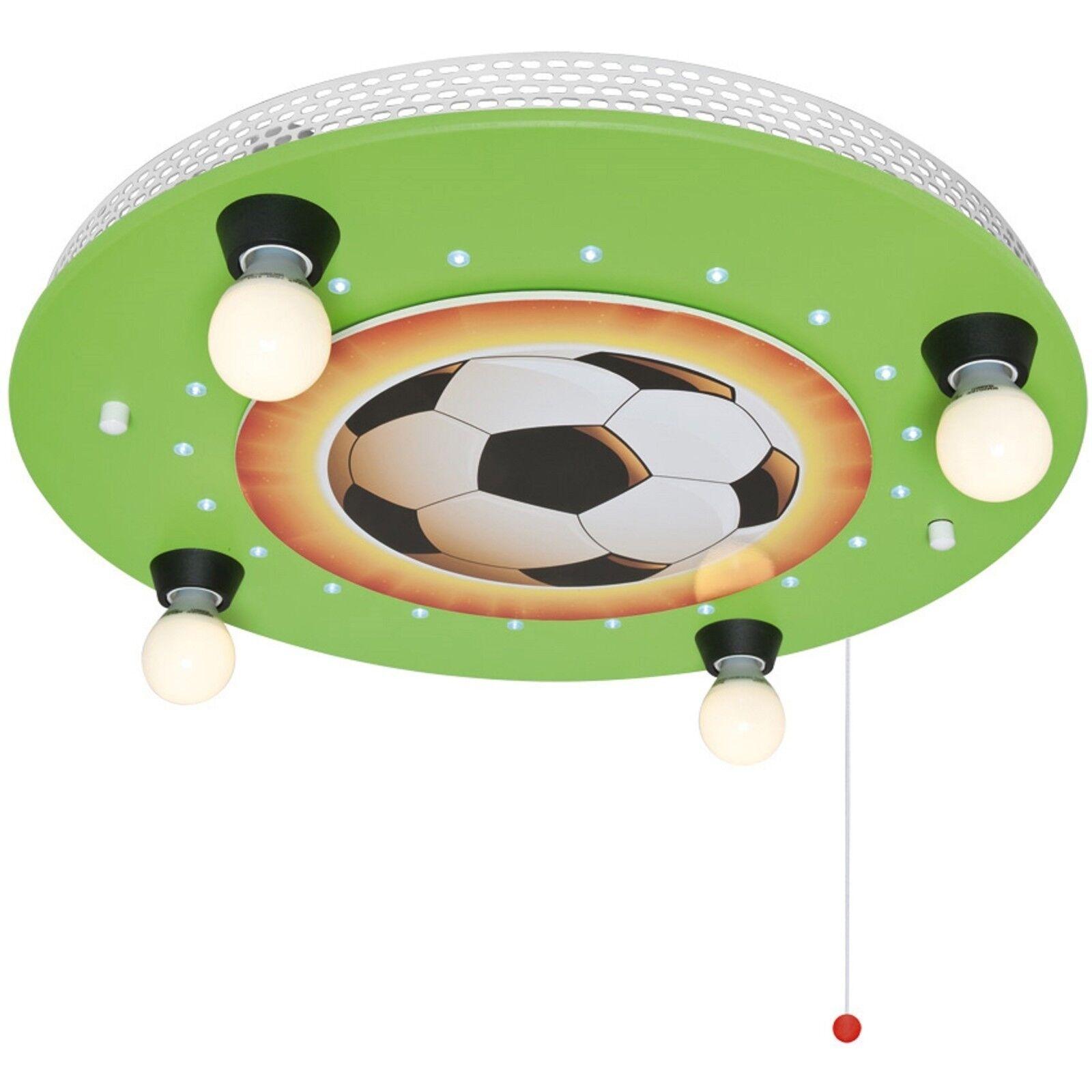 Deckenleuchte Deckenlampe Kinderzimmer Fußball 4x E14 max.40W und LED  ELOBRA