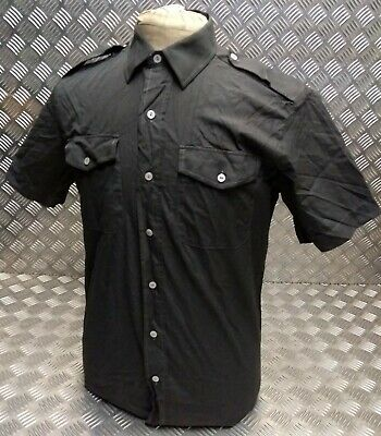 Genuine British Army Regulation Issue Short Sleeve No2 Shirt Overdyed Black New To Clear Out Annoyance And Quench Thirst Uniforms & Bdus