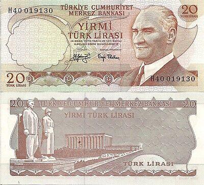 Turkey P216 1 Lirasi Ataturk // Ataturk dam Sanliurfa UNC  See UV /& w//m image