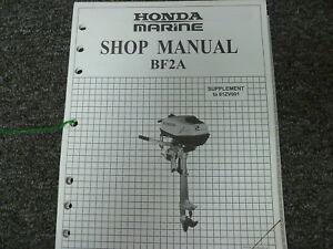 honda bf2a outboard motor shop service repair manual supplement p n rh ebay com Service ManualsOnline HP Owner Manuals