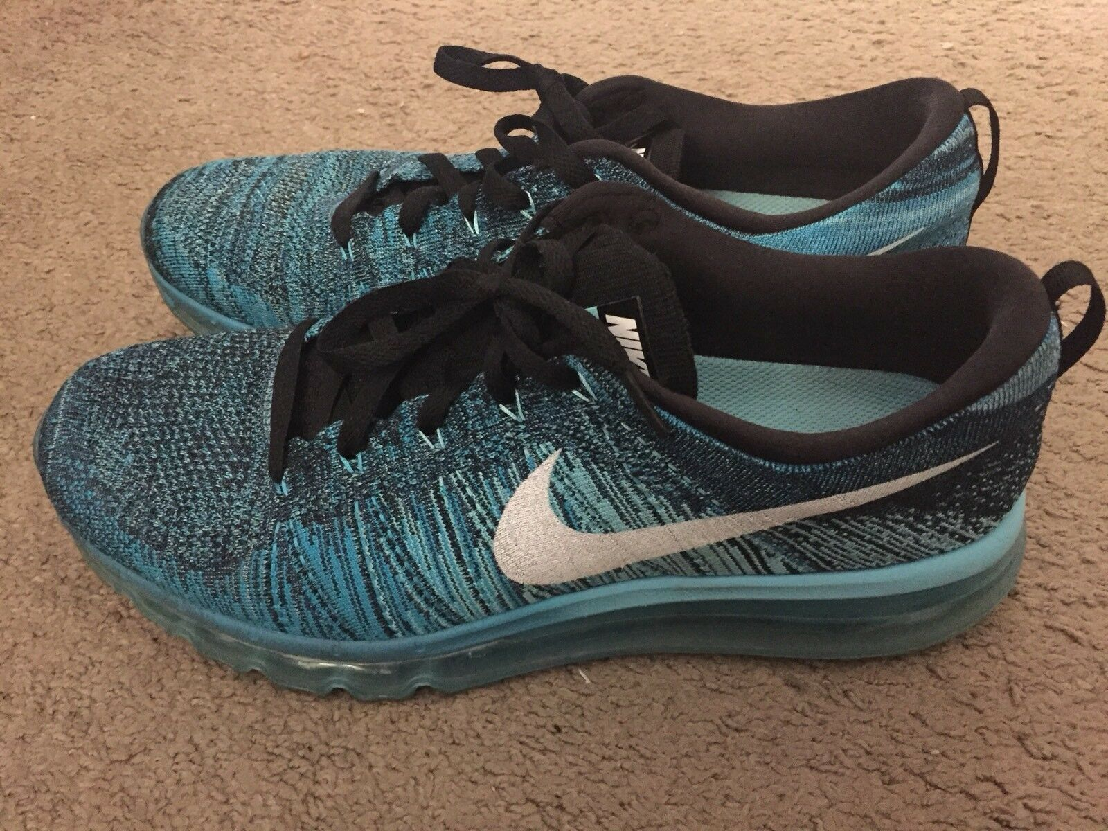 Nike Flyknit Air Max Black/Tide Pool Blue 2018 Comfortable Great discount