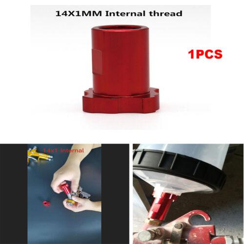 For PPS Spraygun Adapter Red Aluminum Spray Gun Disposable Pot Adapter Connector