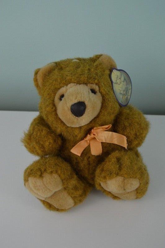 Vintage Lemonwood Asia My Toy Teddy Bear Plush Stuffed Animal Tan Braun Bow 9
