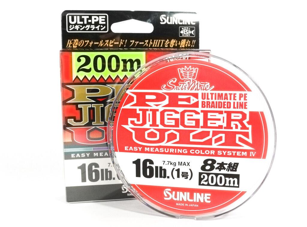 Sunline E.F.  línea X8 Ultra Jigger 200m E.F. 1 16LB (2827)  primera reputación de los clientes primero